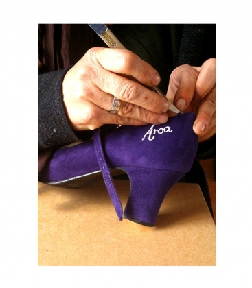 Name embroidered for flamenco shoes