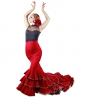 Flamenco Long-tale Skirt, Model Six Ruffles
