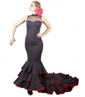 Flamenco Long-tale Skirt, Model Six Ruffles