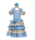 Girl Flamenco Dress, Size 5