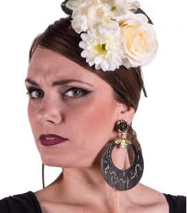 Flamenco rounded earrings