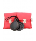 Black and red Castanets Double box