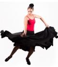 Flamenco skirt practice