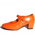 Flamenco shoes orange