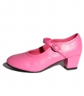 Pink flamenco shoes