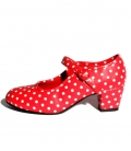 Flamenco shoes with polka dots for girls