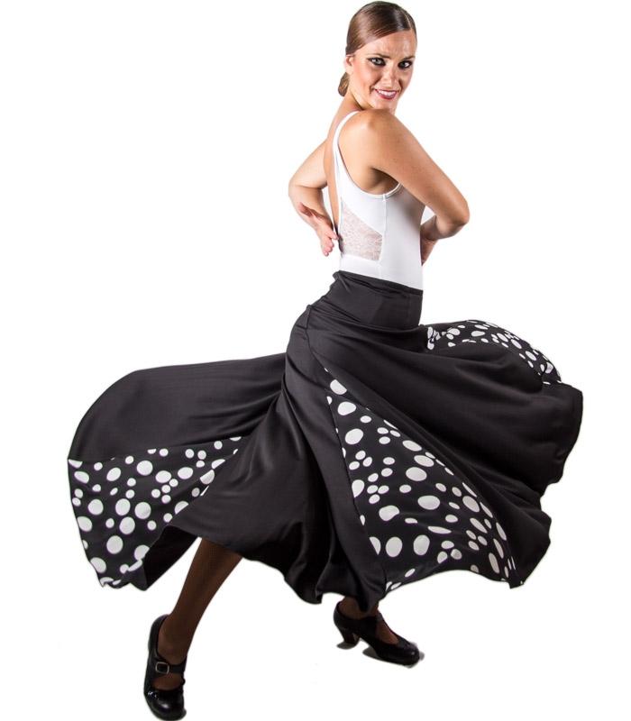 2ab69c21a315 Flamenco skirt with 4 godets for women - Flamenco dance wear El Rocio