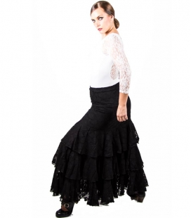 Lace Flamenco Skirt For Dance