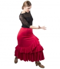 Flamenco Skirt Normal Waist, Model Salon